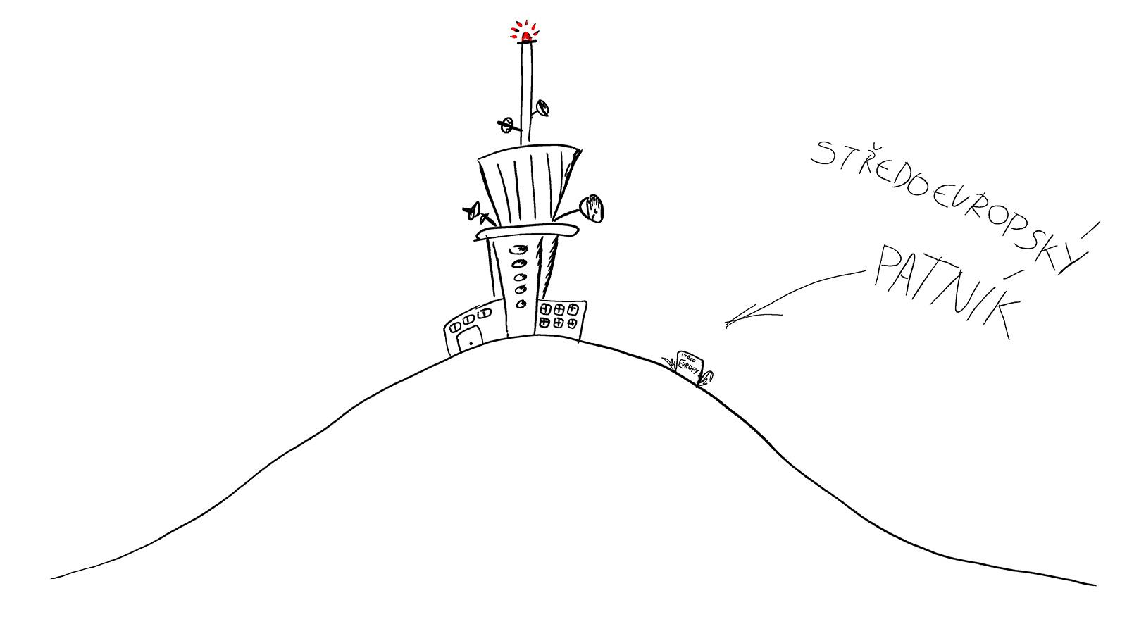 dyleň věž patník